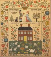 THERON TRADITIONS NEEDLES AND PINS COLONIAL STYLE WEDDING SAMPLER CROSS STITCH