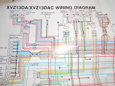 Yamaha OEM Factory Color Wiring Diagram Schematic 1990 XVZ13DA XVZ13DAC