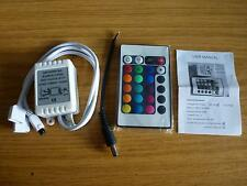 24 Key IR Remote Controller For 2 STRIPS OF RGB SMD 5050 LED  Strip