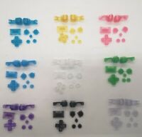 9 Colors/Set Transparent Buttons for Nintendo Gameboy Advance SP/GBA SP