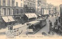 CPA 54 NANCY RUE SAINT JEAN POINT CENTRAL (tramway gros plan