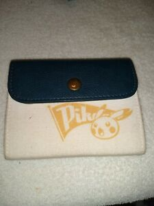 Pokemon Wallet Pikachu Nintendo Navy  White canvas Card Coins Notes Photo Holder