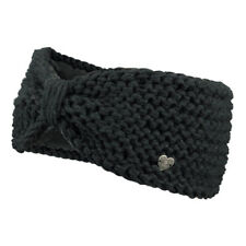 Barts Damen Stirnband Ginger Headband Fleece Inside Winter Handgestrickt Schwarz