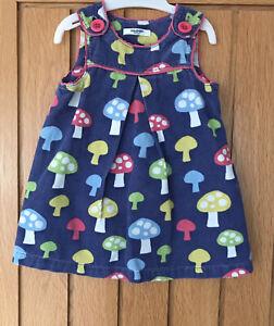 Baby Boden / Mini Boden Girls Mushroom Pinafore Dress Age 12-18 Months