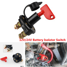 12V Battery Isolator Cut Off Disconnect Power Kill Key Switch For Car Truck Boat