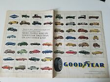 1960 More People Ride On Goodyear Tire Tires Auto Original Ad