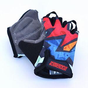 ZippyRooz Kapow! Toddler/ Little Kid Bike Glove Sports Half Finger Boys Girls