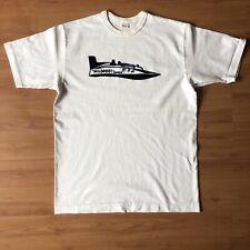 Warehouse Made In Japan White Tshirt Wildroot Charlie Flock Print