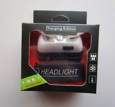 Super-Bright Cree LED Head Lamp w/ Strap USB Charging Cord_1000 Lumen_Strobe NEW