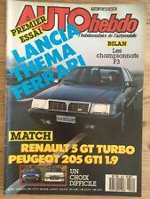 MAGAZINE AUTO HEBDO N°552 10/12/86 LANCIA THEMA FERRARI RENAULT 5 GT PAJERO 2.5