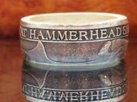 Great Hammerhead Shark coin ring. From a .999 Pure silver coin Very unique ring