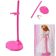 Plastic Pink Hangers Stand for Princess Doll Dress Clothes Accessorie​s Set