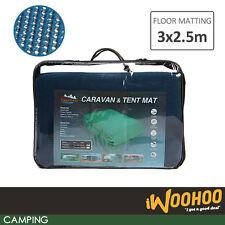 Camp Mat Rubber Net Annex Lightweight Awning Picnic Pad Floor 3x2.5m Rich Blue