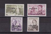 """AD13) Australia 1966 Decimal Navigators Ovpt. """"Specimen"""" mint unhinged"""
