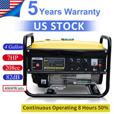 Portable Gas Generator 4000W Emergency Home Back Up Power Camping Tailgating g