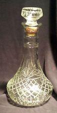 Mogen David M.D.1980 Crystal Decanter Wine Bottle #8 Glass and Cork Stopper
