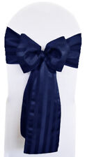 """Wedding Linens Inc. (5pcs) 7.5"""" x 108"""" Striped Polyester Chair Sashes Bows Ties"""