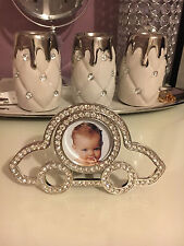 Silver Car Photo Picture Metal Frame Vintage Luxury Frame 2x2 Baby Shower Gift