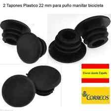 DOS TAPONES MANILLAR BICI PLASTICO COLOR NEGRO CALIBRE 22 MM