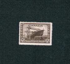1942 TIMBRE CANADA STAMP   #  260 *   FH  CORVETTE