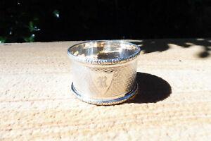 Vintage HMSS Napkin Ring : English Hallmarks : Chester 1932 : Robert Pringle