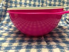 Tupperware Thatsa Bowl - 32 Cup/7.6L - PINK/SUGAR - Mixing Storage