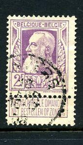 Belgium 1905 2Fr mauve with label fine used SG 106 Cat £35
