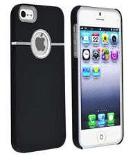 iPhone 5 5S SE Case Deluxe Black Hard Case Cover Chrome for Apple iPhone SE  5G