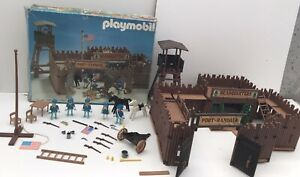 Playmobil western vintage - Fort Randall Ref 3419 - Near Complete + box 1980