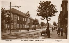 WALSALL The Library Lichfield Street - 1930 Original Real Photo Postcard (2.95)