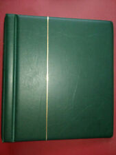 Lighthouse Great Britain Green, Padded 2 post Turn Bar Stamp Album Used Ref 02