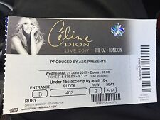 Celine Dion Concert Tickets, The O2, GREAT SEATS, Ruby VIP Package June 21st