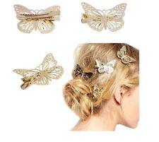 2 pc Filles/Femmes Or Papillon Cheveux Clip Pin Fashion bandeau cheveux accessoires