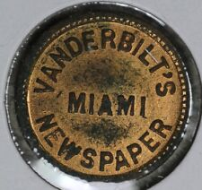 Civil War Vanderbilt's Miami Newspapers Token Good for 2-1/2 one copy