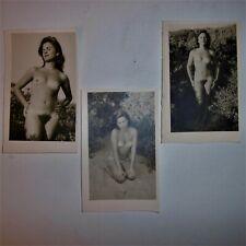 3 ANCIENNES  PHOTOS / ARGENTIQUE /  NU / EROTIQUE  / VERS 1950 / 1960
