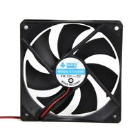 2x120x120x25mm 12V 4Pin Brushless PC Computer Case Cooling Fan CPU Coolder Lot