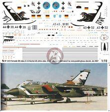 Peddinghaus 1/72 Tornado IDS Markings '40th Anniversary' JaboG 33 Büchel 1410