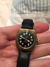 Rolex Gold Bubbleback With Black California Dial Rare