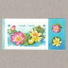 LOTUS = Pink, yellow, Pictorial Booklet Pair MNH-VF Canada 2018