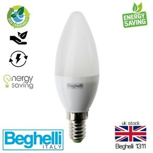 Beghelli Energy Saving Lamps LED White Light Bulb Round Screw Candle Oval 3W5W7W