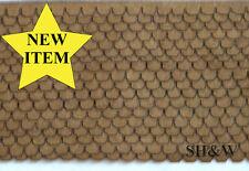 """HO Scale """"Laser Cut"""" Angled / Beveled Shingle Roofing Kit"""