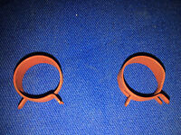 MOPAR Power Steering Return Hose Retaining Clip Pair Red Dodge Chrysler Plymouth