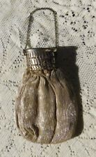 ANTIQUE EARLY 1900'S GERMAN SILVER MICRO BEAD EXTENSION GATE TOP PURSE / BAG