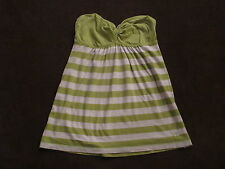 Womens Juniors Gilly Hicks Green Stripe Lightweight Strapless Top Soft XS S