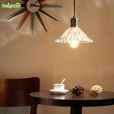 Retro Vintage Pendant Light Glass Crystal Umbrella Hanging Lamp E27 Chandelier