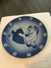 1984 Royal Copenhagen Blue & White plate, Mother Horse and Her Young One Colt