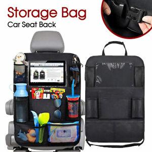 2PCS Car Back Seat Organiser Travel Storage Bag Organizer iPad Holder Pocket AU
