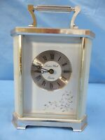 LONDON CLOCK CO WHITE CORNICHE CASE BEAUTIFUL DIAL CARRIAGE CLOCK West Germany