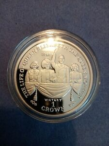 2000 Silver Proof Solid 1oz Coin Queen Mother Set - Victory of WW2 in 1945