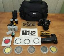 EXCELLENT Nikon FM2N 35mm SLR Film Camera Body w/ 50mm f1.4 lens and Motor drive